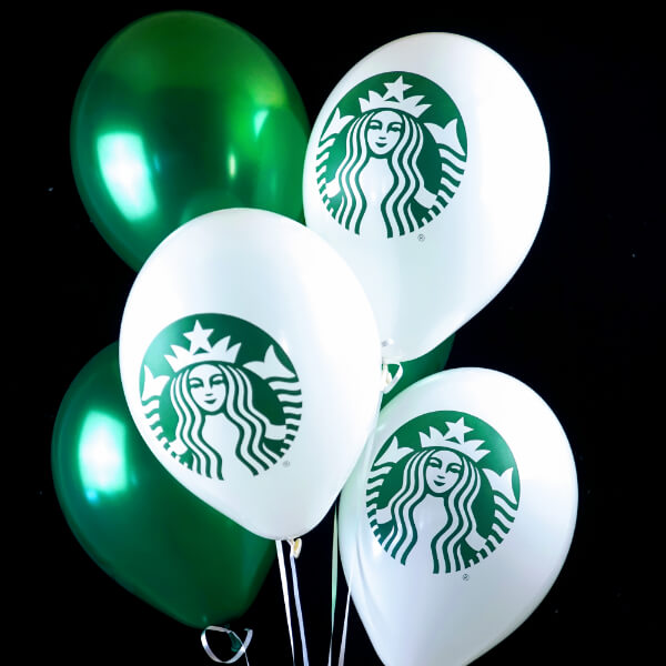 Starbucks White & Green Latex Balloon
